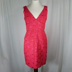 Trina Turk Red Cocktail Dress Size 10 Red/Pink